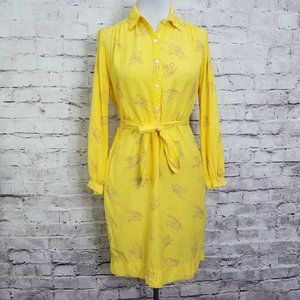 Vintage Coco California Size M Yellow Button Front